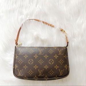 Louis Vuitton Monogram Pochette Handbag Clutch Bag